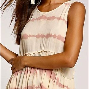 Sand tank top with pink detailing